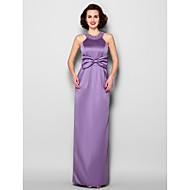 Sheath/Column Mother of the Bride Dress Floor-length Sleeveless Satin