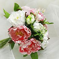 kimppu 10 silkkikangas simulointi ruusut häät kukkakimppu häät morsian tilalla kukkia, pinkki ja valkoinen