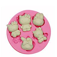 Hello Kitty formy silikonowe formy ciasta dekorowanie silikonowy do kremówki cukierki rzemiosło biżuterii PMC żywicy gliny