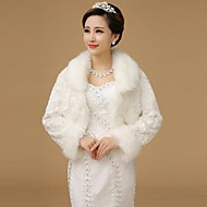 Fur Wraps Shawls Long Sleeve Wool White Bolero Shrug