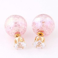 Women's Resin Stud Earrings With Rhinestone