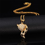 U7® Cute Fox Dangle Earrings Pendant Necklace 18K Real Gold Platinum Plated Rhinestone Earrings Necklace Fashion Jewelry