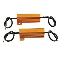자동차 보편적 주도 램프 50w의 6ohm에 대한 부하 저항 보호를 주도 (2PCS)