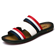 Men's Shoes Outdoor / Office & Career / Work & Duty / Athletic / Dress / Casual Nappa Leather Slippers Black / Blue