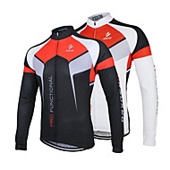 Arsuxeo Men's Cycling Jersey Breathable Long Sleeve Bicycle Cycling Jersey