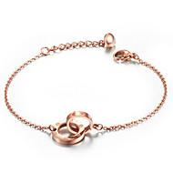 Women's Stainless Steel Gold-plated Screws Pattern Interlocking Bracelets