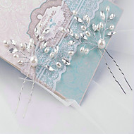 Licht Metaal/Imitatie Parel Vrouwen Helm Bruiloft Bloemen Bruiloft