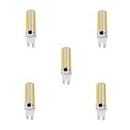 10W G9 LED лампы типа Корн T 152 SMD 3014 1000 lm Тёплый белый / Холодный белый Регулируемая AC 220-240 V 5 шт.
