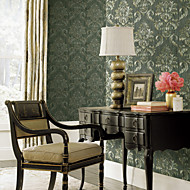 papel de parede revestimento de parede, papel de parede floral moderno não-tecidos
