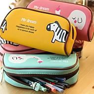 sevimli hayvan cenneti pu deri kalem çantası (rastgele renk)
