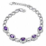 Women's Sterling Silver Bracelet with Amethyst SA0011B