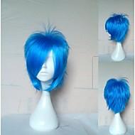 072a איכותי פאת קוספליי כחולה פאות שיער סינתטיות של אדם הקצר ישר פאות אנימציה פאות מפלגה