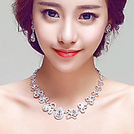 Exquisite Rhinestones/Titanium Wedding/Party Necklace with Earings