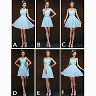 Mix & Match Dresses Short/Mini Chiffon 6 Styles Bridesmaid Dresses (2840136)