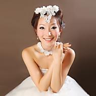 Dame Fjer Medaljon Bryllup/Speciel Lejlighed Blomster/Pandekæde Bryllup/Speciel Lejlighed 2 Dele