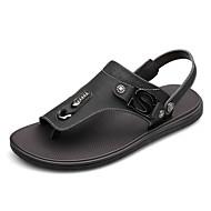 Men's Shoes Casual Leather Sandals Black/Brown/Khaki