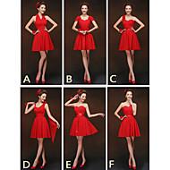 Mix & Match Dresses Short/Mini Chiffon 6 Styles Bridesmaid Dresses (2840134)