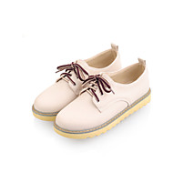 Women's Shoes Low Heel Round Toe Oxfords Casual Blue / Pink / White / Beige