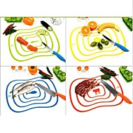 Flexible Ultra-thin Kitchen Tool Fruit Vegetable Cutting Chopping Board Mat Random Color