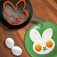 Rabbit Shape Egg Ring for Breakfast, Egg Mold Cooking Tools, Silicone