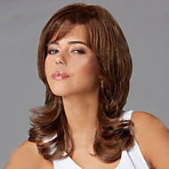European and American  Fashion Wig Hair Brown Pear Volume