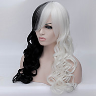 Black And White And Double Color Long Curly Hair Wigs