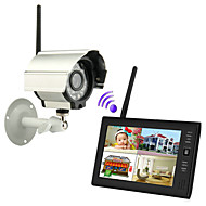 "NEW Wireless 4CH Quad DVR 1 Cameras with 7"" TFT-LCD Monitor Home security system"