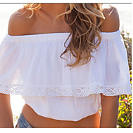 Women's Off Shoulder Blouse , Cotton Sleeveless