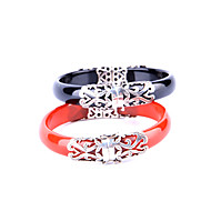 925 Sterling Silver Inlaid Carved Flowers Retro  Fashion Personalized Women's  Agate Bracelet (More Colors)