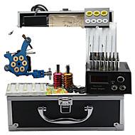 Tattoo Machine Kits with 4 Steel Tattoo Machines and 4 Cast Iron Tattoo Machines