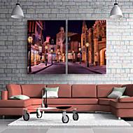 e-Home® venytetty johti kankaalle tulostaa taidetta kaduilla yöllä LED vilkkuu valokuitu tulostaa sarja 2