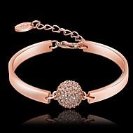 Dame Charm-armbånd Krystal Plastik Rhinsten Rødguldbelagt 18K guld Rose Guld Smykker For Fest Daglig Julegaver 1 Stk.