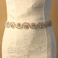 Blonde Bryllup / Fest/aften Sash-Rhinstein Dame 70.75 tommer (ca. 180cm) Rhinstein