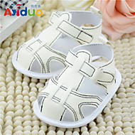 Ajiduo 3-18M Baby Velcro Casual Sandals Infant Soft Solded Prewingker Shoes