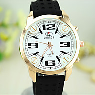 European Style New Fashion Unisex Silicone Big Dial Watches