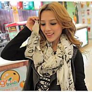 Shawls Scarves Chiffon White/Candy Pink/Almond