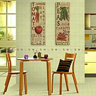 E-home® tuval sanat sebze ve 2 kelime dekoratif boyama seti gergin