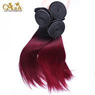 """3stk / lot 10 """"-24"""" brazilian jomfru hår farve 1b / 99j lige menneskehår vævninger"""