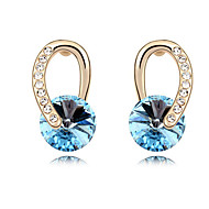 Vintage/Cute/Party Gold Plated/Alloy/Cubic Zirconia Drop Earrings