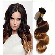 3pcs / lot Braziliaanse maagdelijke haar body wave drie 3 tone ombre hair extensions onbewerkt braziliaanse lichaam wave virgin hair