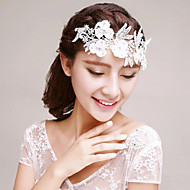 Embroidery Lace Rhinestones Wedding/Party Headpieces/Forehead Piece with Petals