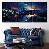 e-Home® venytetty johti kankaalle tulostaa kuvia lumi rajattu vuorilla johti vilkkuva valokuitu tulostaa sarja 3