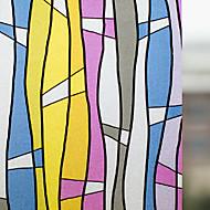 Retro Colorful Stripes Window Film