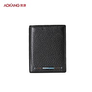 Aokang Men 's Cowhide Sports/Casual/Outdoor/Office & Career Wallet/Card & ID Holder/Coin Purse - Black