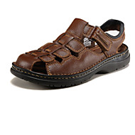 Men's Shoes Outdoor Calf Hair Sandals Black/Brown