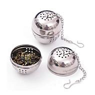 rustfritt stål te infuser sil mesh filter låsing krydder ball 8.5x4.5x4cm