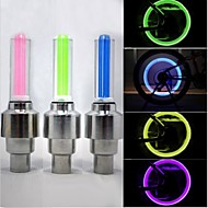 Luzes de Bicicleta luzes da roda Luzes de Tampa de Válvula LED - Ciclismo Prova-de-Água 50 Lumens Bateria Ciclismo