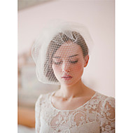 Wedding Veil Two-tier Blusher Veils/Veils for Short Hair/Birdcage Veils Cut Edge