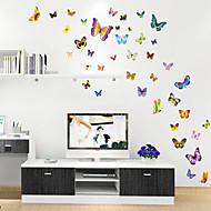 קיר PVC פרפר מדבקות צבע קריקטורה חמוד בסגנון מדבקות קיר מדבקות קיר