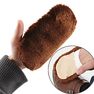 Fashion Faux Fur Cleaning  Washing Shoe Brush Gloves 17.5*9.5cm One PCS